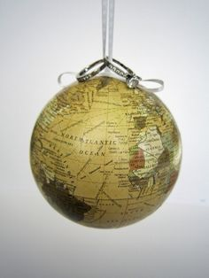 World on a string - Globe ring bearers pillow