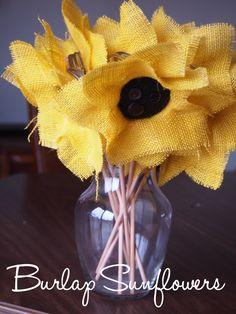 Easy burlap sunflower tutorial Burlap Sunflowers