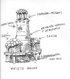 Islamundo, diseño de escenarios: la casa de Keiyi