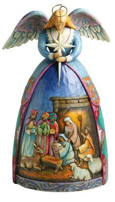 Jim Shore Heartwood Creek Angel with Nativity Scene Figurine - Christmas - kerstmis - holidays