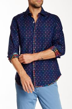 Image of Robert Graham Festival Lights Classic Fit Shirt
