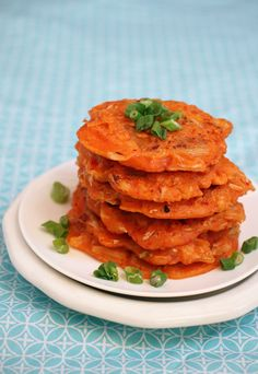 Kimchi Pankcakes with scallions Dash of the east