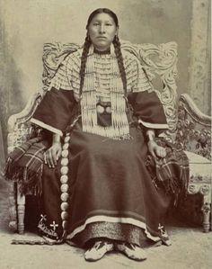 Tasunke Yuhapi (aka They Keep Her Horse), the daughter of Sunka Bloka (aka He Dog) & Inyan (aka Rock) - Oglala - circa 1900