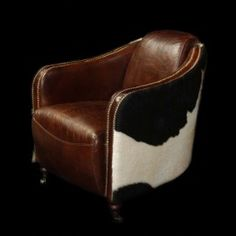 Cowhide & Leather Arm Chair