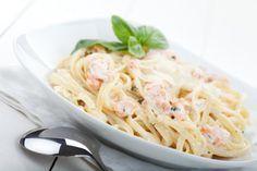 Spaghetti mit Lachs-Sahne-Soße                              …