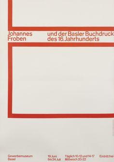 Emil Ruder Poster: Johannes Froben Exhibition