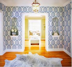 The Peak of Tres Chic: Needing, Wanting, Loving: Katie Ridder Leaf Wallpaper