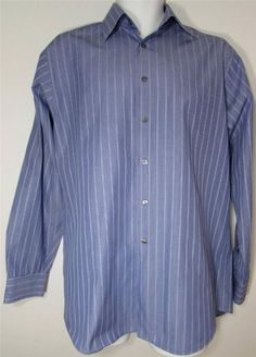 Men Calvin Klein Dress Shirt Long Sleeve 100% Cotton sz 15 1/2 X 34 35 EUC