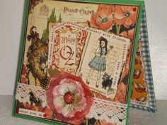 Magic of  Oz Card Scrapbooking Layouts, Scrapbook Cards, Magic Of Oz, Beautiful Handmade Cards, Graphic 45, Layout Inspiration, Halloween Cards, Creative Cards, Altered Art