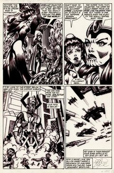— Fantastic Four page 9 by John Byrne & Glynis. Comic Books Illustration, Marvel Art, Drawings, Comics Artwork, Comic Book Pages, Book Creator, Art Films, Book Art, John