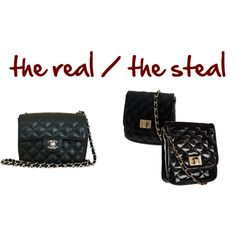 the real / the steal- Chanel Black Quilted Chain Flap Bag