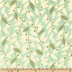 """I've had my eye on this one to use for a shower curtain - """"Lindy Leaf - Blue"""" from the Nicey Jane collection of Heather Bailey at Free Spirit Fabrics - 100% cotton at $8.98/yard. (Note: this one is also available as a laminate too!)"""