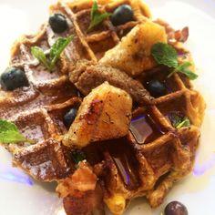 #mallorca #waffle #baconJam #brunch #breakfast