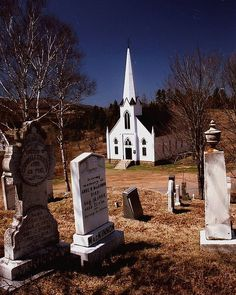 I love old churches and cemeteries.