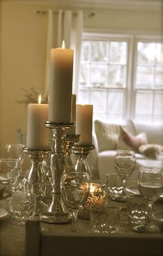 I love this tablescape for winter.