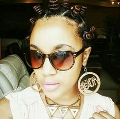 Bantu knots you can wear or unravel