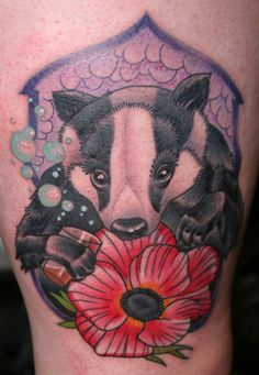 Badger!!   By Farrell, Accomplice Tattoo, London UK