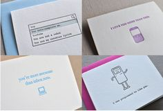 Adorable tech inspired cards.