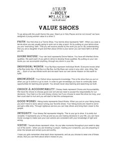 Value Shoes {Stand in Holy Places}