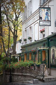 PARISIAN..Paris est une Fête Montmartre, Restaurant La Bonne Franquette, 18 Rue Saint-Rustique, Paris repined by BellaDonna