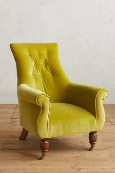 Velvet Astrid Chair  in blue #anthropologie