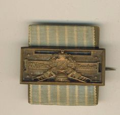 """Bavarian German State Fireman's """"schnalle"""": 1884-1919.  Created by Royal Patent on by King Ludwig II on June 24, 1884 for """"25 years true, selfless and voluntary service in the Fire Protection Services""""."""