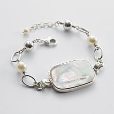 personalized rectangle pearl bracelet