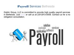 Now Payroll Service is available in Bethesda, Golden Group is one of the top organizations which provide best Payroll Service in the Bethesda. We offer Payroll solution that meets you with your business needs, which give you the direction where you have to spend time for the betterment of your company. For more information, please visit our website.