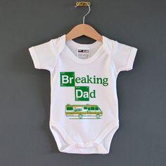 Breaking Dad Baby onesie. Alternative baby Bodysuit / Babygrow for Breaking Bad Baby. Funny baby gift