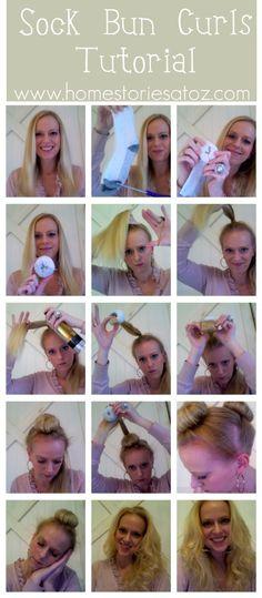 DIY Sock Bun Curl Tutorial diy long hair curly hair easy diy how to diy beauty diy hair diy fashion beauty diy diy curls diy style tutorials diy hair style hair tutorials Sock Bun Curls, Curls No Heat, No Heat Curls Overnight, Loose Curls, Second Day Hairstyles, Curled Hairstyles, Diy Hairstyles, Wedding Hairstyles, Hair Dos
