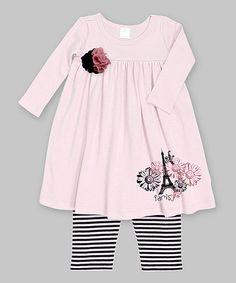 Loving this Mauve & Black Paris Eiffel Tower Dress & Leggings - Infant on #zulily! #zulilyfinds