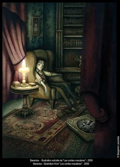 Berenice by Benjamin Lacombe (illustration from Les Contes Macabres)