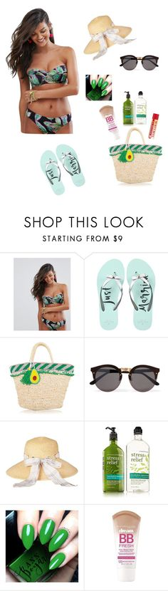 """""""let`s go on the beach"""" by majasehimajasehic ❤ liked on Polyvore featuring ASOS, Kate Spade, Illesteva, Barbour and Maybelline"""