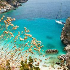 Beautiful view on Agiofili beach, Lefkada, Greece