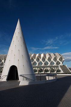 City of Arts and Sciences.  Valencia, Spain.  Architect:  Santiago Calatrava.
