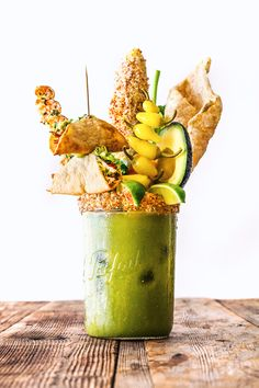 Green Monster Bloody Mary by honestlyyum #Cocktails #Bloody_Mary