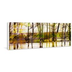 Found it at Joss & Main - Lake Trees Painting Print Plaque