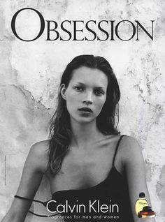 Calvin Klein Obsession, Kate Moss ad campains www.fashion.net