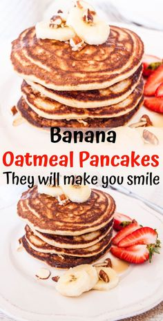 Banana Oatmeal Pancake recipe is the perfect weekend morning breakfast These easy banana are quick to make fluffy and delicious Substitution wheat flour for oat flour mak. Banana Oatmeal Pancakes, Corn Pancakes, Oat Muffins, Pumpkin Pancakes, Banana Bread, Vegan Keto, Healthy Sugar, Healthy Food, Healthy Tacos