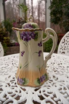 Violet Coffee Pot