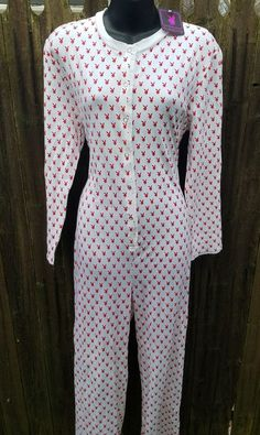 Playboy Ladies Onesie Red Bunny Logo Print Pajamas With Drop Seat Size Med  NWT | Clothing, Shoes & Accessories, Women's Clothing, Intimates & Sleep | eBay!