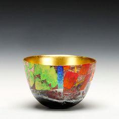 Schaller Gallery | Bennett Bean | Master #1834  earthenware, pit fired, painted, gilded