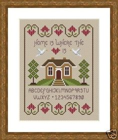INSTANT DOWNLOAD Home Is Where The Heart Is by littledovesamplers, £5.00