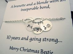 Best friend giftBFFInfinity bracelet with by catchydesign on Etsy