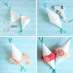 Cute little individual pinatas.  Seem a lot easier to make this way, especially if you are making them in bulk.