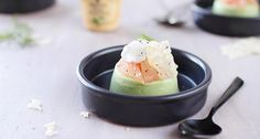 A luscious avocado panna cotta for dessert gets a beautiful topping of grapefruit, parmesan tiles, and whipped cream infused with basil and white wine mustard! Light and with a fine balance of flavors, make this dessert for a memorable time.