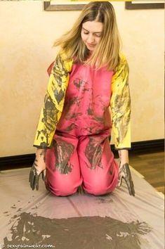 Rain Gear, Latex, Kimono Top, Dress Up, Play, Girls, Outfits, Women, Fashion