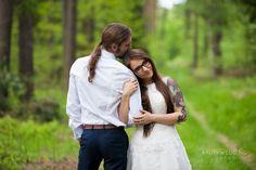 Sesja ślubna w uroczym lesie