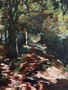 Paths into the woods Town Hall, Volcano, Daffodils, Countryside, Paths, Woods, Artsy, Sunset, Painting
