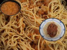 Spaguetti con salsa de tomate